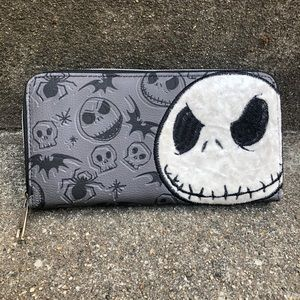 Disney Jack Skellington Zip Wallet Spooky Clutch